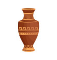 antique greek vase with traditional hellenic vector image vector image