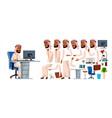 arab man office worker animation set vector image vector image