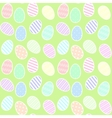 background with Easter eggs vector image vector image