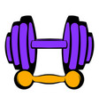 barbell and dumbbells icon icon cartoon vector image vector image