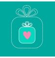 Big gift box and small gift box inside Dash line vector image
