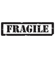 Black stamp fragile vector image