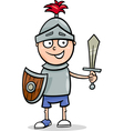boy in knight costume cartoon vector image vector image