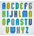 Bright animated uppercase letters with rounded vector image vector image