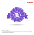 bug icon - purple ribbon banner vector image