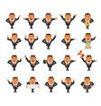 Businessman cartoon character vector image vector image