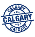 calgary blue round grunge stamp vector image vector image
