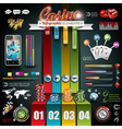 casino infographic set with world map vector image vector image