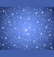 christmas blue shiny background with snowflakes vector image vector image