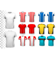 Collection of various soccer jerseys The T-shirt