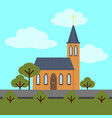 colorful church building template