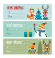 cute flat design christmas labels collection vector image vector image