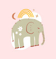 cute nursery elephant childish african animal pre