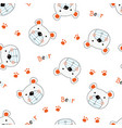 cute teddy bears seamless pattern vector image vector image