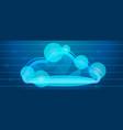 data cloud concept banner cartoon style vector image vector image