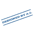 Designed By aI Watermark Stamp vector image