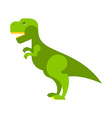Dinosaur Tyrannosaurus Angry ancient Predator Big vector image