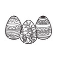 easter eggs isolated icon vector image