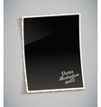 Empty vintage photo frame on table vector image