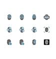 Fingerprint duotone icons on white background vector image vector image