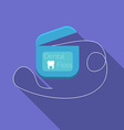 Flat design modern of dental floss icon with long vector image vector image