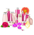 flower cosmetics vector image vector image