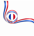 french wavy flag background vector image vector image