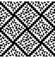 geometric ornament black and white shapes vector image