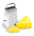 Grater and Cheese vector image vector image