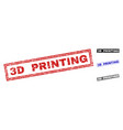 grunge 3d printing textured rectangle watermarks vector image vector image