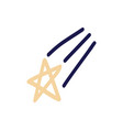 hand drawn falling star trail from a shooting vector image