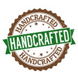 handcrafted grunge rubber stamp vector image