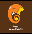 happy ganesh chaturthi festival greeting card or p vector image vector image