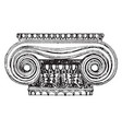 ionic capital from the erechtheion design and vector image vector image