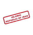 Islamic Republic Of Iran Rubber Stamp vector image vector image