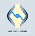 knee joint health care icon flat vector image vector image
