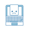 laptop computer with document vector image vector image