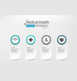 medical concept on paper design infographic vector image vector image