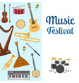 musical instruments set of vector image vector image