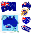 national colours of Australia vector image vector image