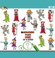 one a kind game for children with halloween vector image