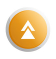orange round button with up arrow symbol vector image