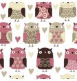 owl pattern vector image vector image