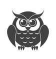 owl silhouette vector image vector image
