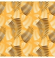 Palm tree leaves pattern vector image vector image