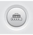 Personal Access Icon Grey Button Design vector image vector image