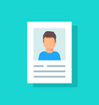 personal info data user or profile card details vector image