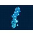 pixel Sweden map with spot lights vector image vector image