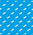plastic pipe pattern seamless blue vector image