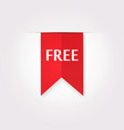 Red Label Icon of Free Product